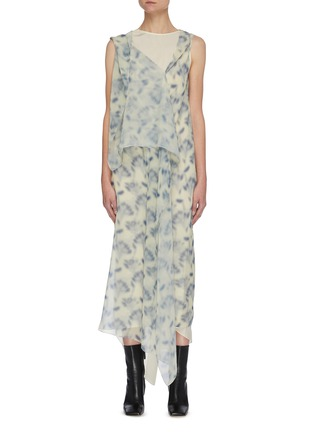 Main View - Click To Enlarge - PETAR PETROV - Avalon' graphic print multi layer silk georgette dress