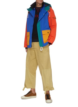 Figure View - Click To Enlarge - JW ANDERSON - Belted D-ring Detail Patchwork Saddle Pants