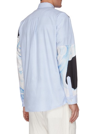Back View - Click To Enlarge - JW ANDERSON - Pol Anglada print oversized anchor applique shirt