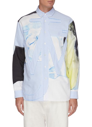 Main View - Click To Enlarge - JW ANDERSON - Pol Anglada print oversized anchor applique shirt