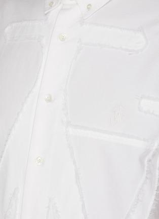 - JW ANDERSON - Oversized JW anchor applique shirt