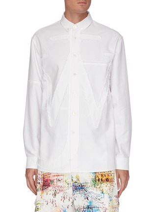 Main View - Click To Enlarge - JW ANDERSON - Oversized JW anchor applique shirt