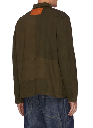 Back View - Click To Enlarge - JW ANDERSON - Patchwork Oversized Toggles Workwear Jacket