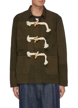 Main View - Click To Enlarge - JW ANDERSON - Patchwork Oversized Toggles Workwear Jacket