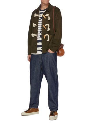 Figure View - Click To Enlarge - JW ANDERSON - Patchwork Oversized Toggles Workwear Jacket