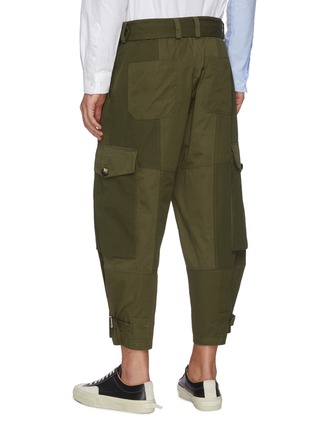 Back View - Click To Enlarge - JW ANDERSON - Belted D-ring Detail Patchwork Cargo Pants