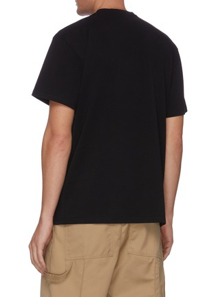 Back View - Click To Enlarge - JW ANDERSON - Pol Anglada embroidered face logo patch T-shirt