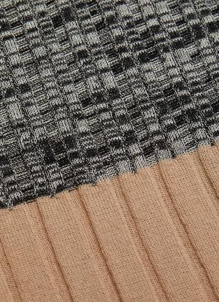 - PETAR PETROV - 'Nika' colourblock panel knit turtleneck top