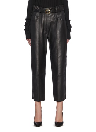 Main View - Click To Enlarge - PETAR PETROV - Pollis B' belted leather pants