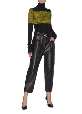Figure View - Click To Enlarge - PETAR PETROV - Pollis B' belted leather pants