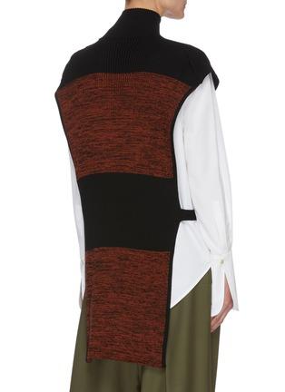 Back View - Click To Enlarge - PETAR PETROV - Nais' colourblock panel sleeveless turtleneck knit top