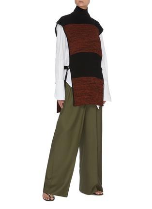 Figure View - Click To Enlarge - PETAR PETROV - Nais' colourblock panel sleeveless turtleneck knit top