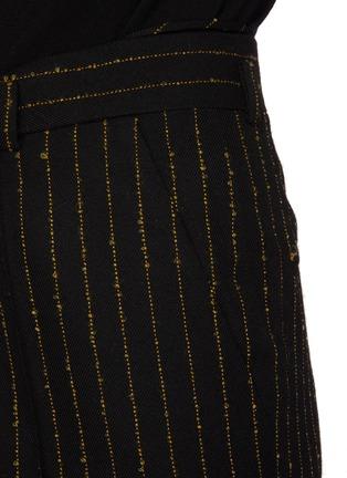 - PETAR PETROV - Page' metallic pinstripe flared suiting pants
