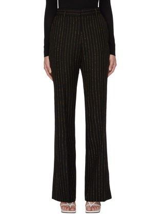 Main View - Click To Enlarge - PETAR PETROV - Page' metallic pinstripe flared suiting pants