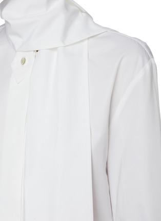 - PETAR PETROV - Chavi' scarf detail cotton shirt