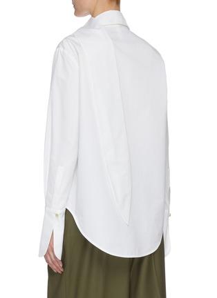 Back View - Click To Enlarge - PETAR PETROV - Chavi' scarf detail cotton shirt