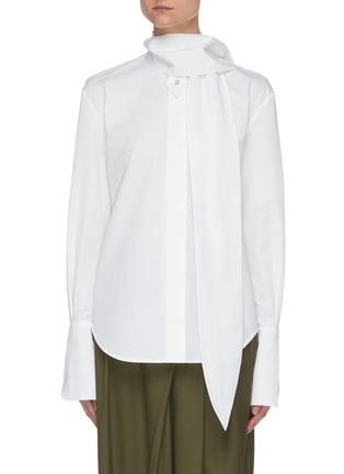 Main View - Click To Enlarge - PETAR PETROV - Chavi' scarf detail cotton shirt