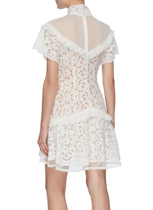 Back View - Click To Enlarge - JONATHAN SIMKHAI - Flounce Hem Lace Mini Dress