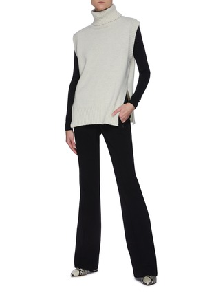 Figure View - Click To Enlarge - THEORY - Flare Leg Crepe Pants