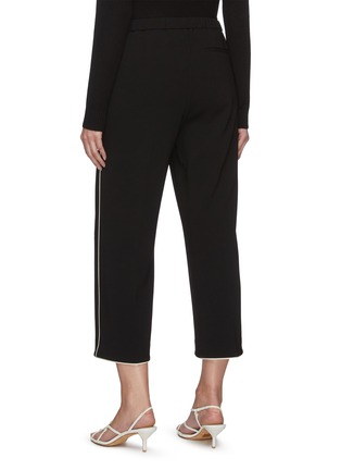 Back View - Click To Enlarge - THEORY - Contrast piping wide leg pants
