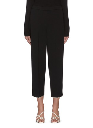 Main View - Click To Enlarge - THEORY - Contrast piping wide leg pants