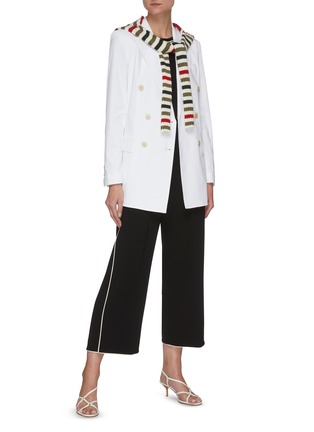 Figure View - Click To Enlarge - THEORY - Contrast piping wide leg pants