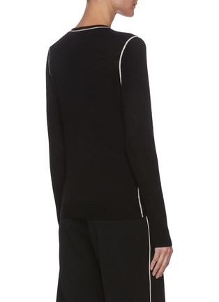 Back View - Click To Enlarge - THEORY - Contrast stitching cashmere sweater