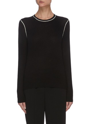 Main View - Click To Enlarge - THEORY - Contrast stitching cashmere sweater