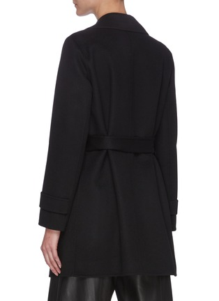 Back View - Click To Enlarge - THEORY - 'Oaklane' Belted Cashmere Short Coat