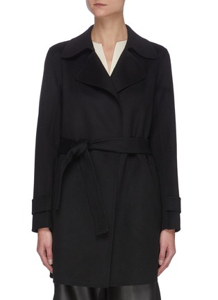 Main View - Click To Enlarge - THEORY - 'Oaklane' Belted Cashmere Short Coat