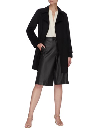 Figure View - Click To Enlarge - THEORY - 'Oaklane' Belted Cashmere Short Coat