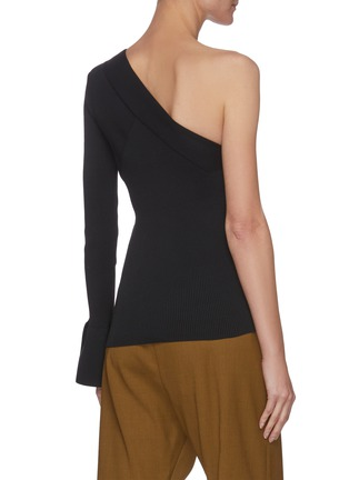Back View - Click To Enlarge - THEORY - One shoulder rib-knit top