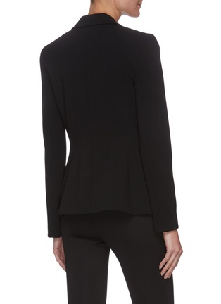 Back View - Click To Enlarge - THEORY - Angled lapel crepe blazer