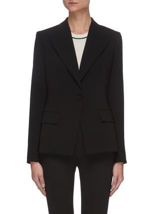 Main View - Click To Enlarge - THEORY - Angled lapel crepe blazer