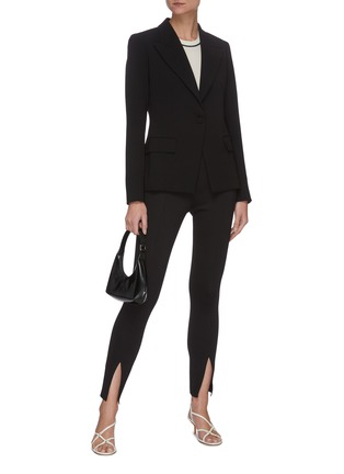 Figure View - Click To Enlarge - THEORY - Angled lapel crepe blazer