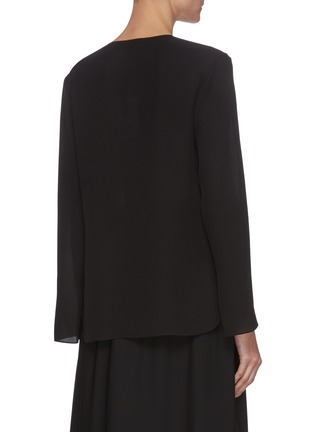 Back View - Click To Enlarge - THEORY - Draped V-neck overlap top
