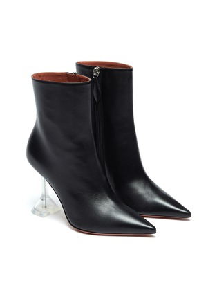 Detail View - Click To Enlarge - AMINA MUADDI - ''Giorgia' clear heel leather boots