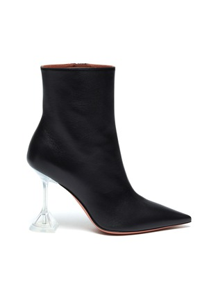 Main View - Click To Enlarge - AMINA MUADDI - ''Giorgia' clear heel leather boots