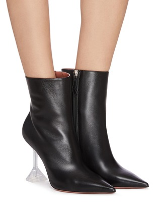 Figure View - Click To Enlarge - AMINA MUADDI - Giorgia' clear heel leather boots