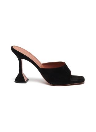 Main View - Click To Enlarge - AMINA MUADDI - Lupita' suede heeled slip ons