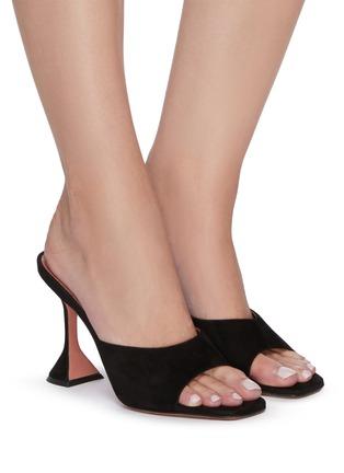 Figure View - Click To Enlarge - AMINA MUADDI - Lupita' suede heeled slip ons