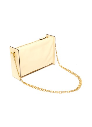 Detail View - Click To Enlarge - MANU ATELIER - 'CARMEN' Leather Shoulder Bag with Chain