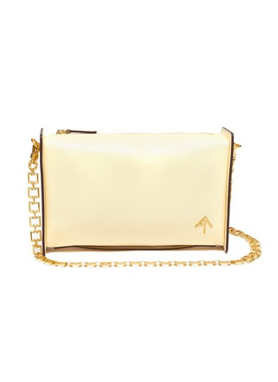 Main View - Click To Enlarge - MANU ATELIER - 'CARMEN' Leather Shoulder Bag with Chain