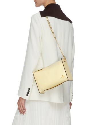Figure View - Click To Enlarge - MANU ATELIER - 'CARMEN' Leather Shoulder Bag with Chain