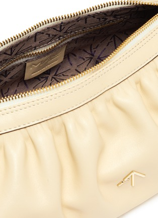 Detail View - Click To Enlarge - MANU ATELIER - RUCHED CYLINDER XX' Ruch Strap Leather Shoulder Bag