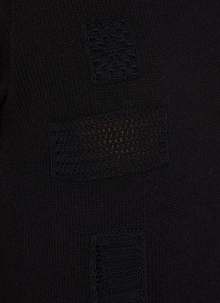 - JIL SANDER - Crochet patch wool sweater