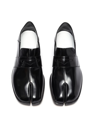 Detail View - Click To Enlarge - MAISON MARGIELA - 'TABI' Round Split-Toe Patent Leather Loafers