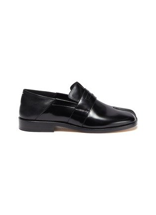 Main View - Click To Enlarge - MAISON MARGIELA - 'TABI' Round Split-Toe Patent Leather Loafers