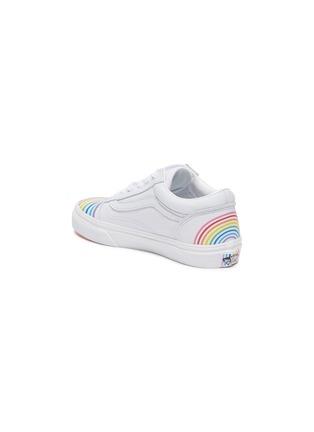 Detail View - Click To Enlarge - VANS - OLD SKOOL' Rainbow Motif Kids Leather Sneakers