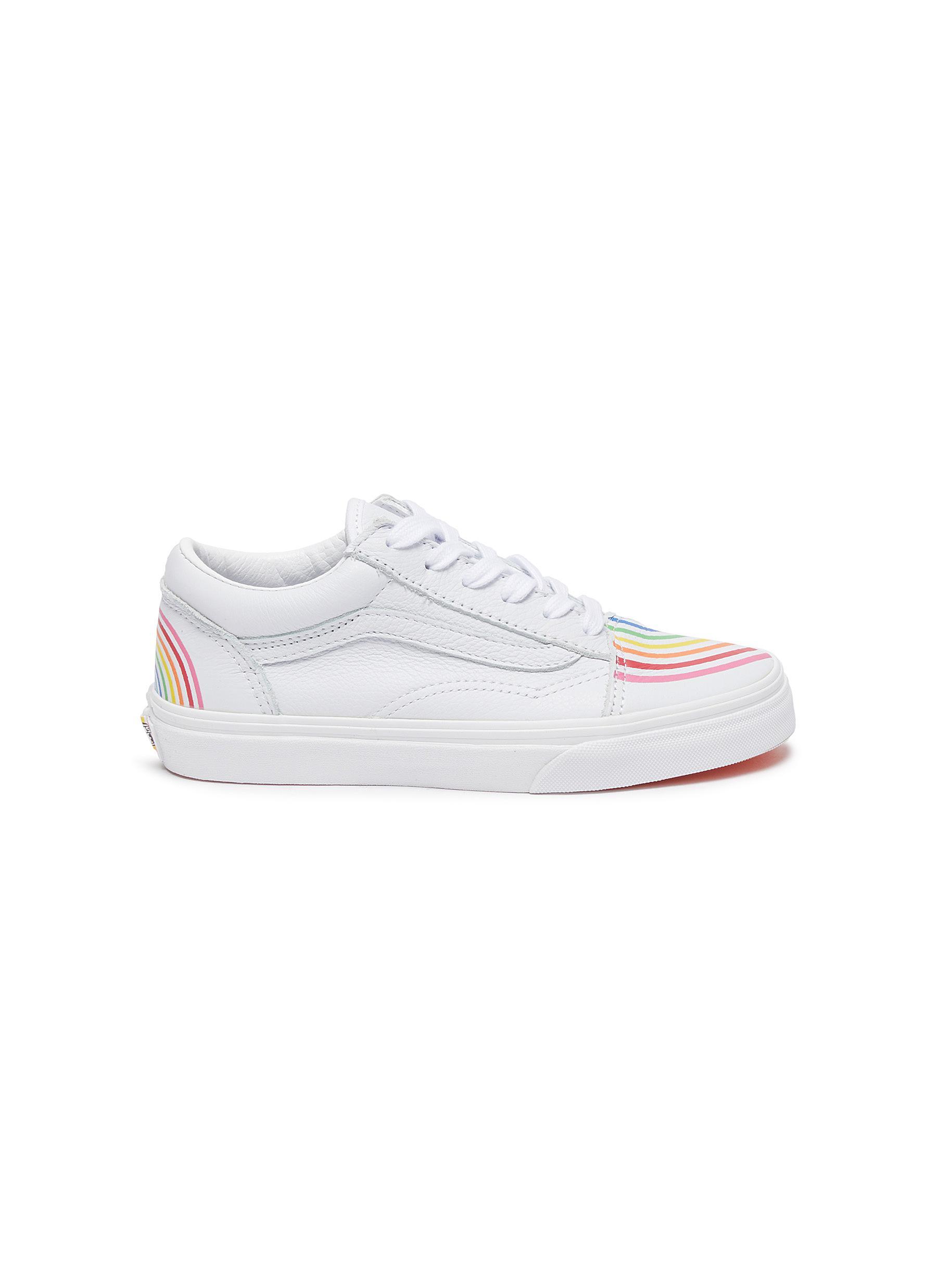 VANS   OLD SKOOL' Rainbow Motif Kids Leather Sneakers   Kids ...